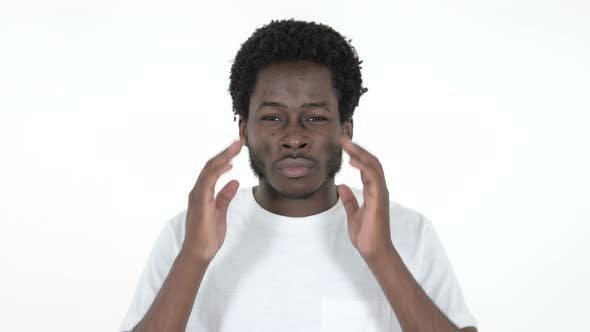 Thumbnail for African Man with Headache, White Background