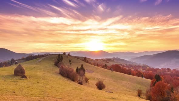 Beautiful Landscape with Hills and Mountais