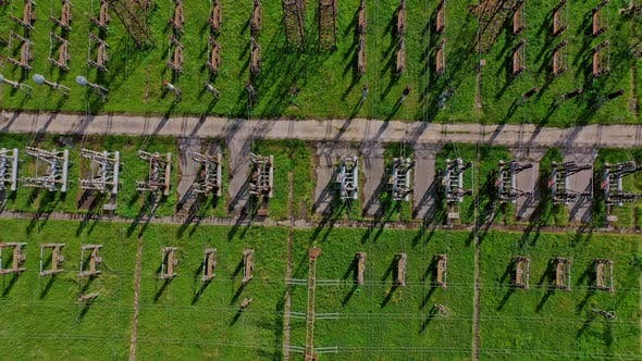 Thumbnail for High voltage lines on green field