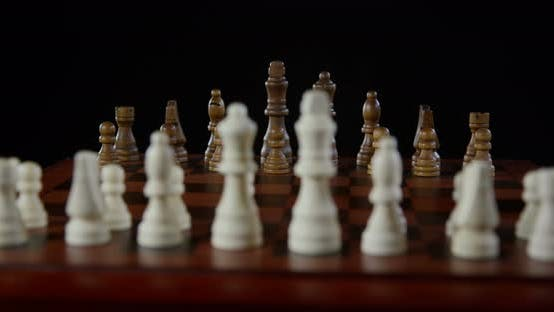 Thumbnail for Chess Set On Chess Board 01b