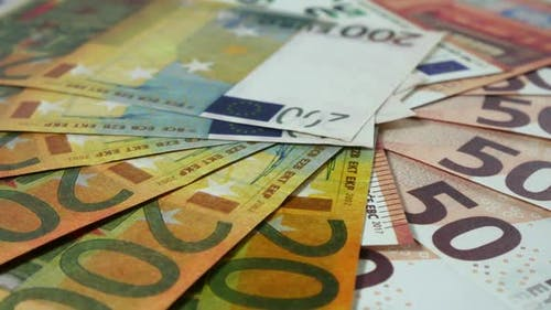 European Currency Of Different Denominations