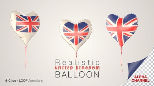 United Kingdom Heart Shape Balloons