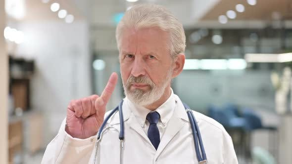 Thumbnail for Senior Doctor Showing No Sign By Hand
