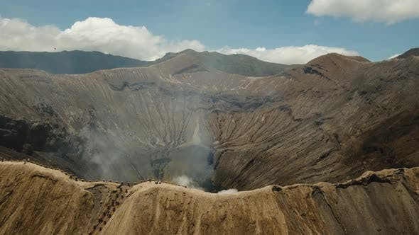 Thumbnail for Active Volcano with a Crater. Gunung Bromo, Jawa, Indonesia