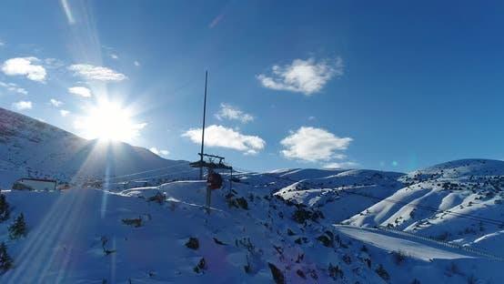 Thumbnail for Ski Center Mountains And Sun Aerial View