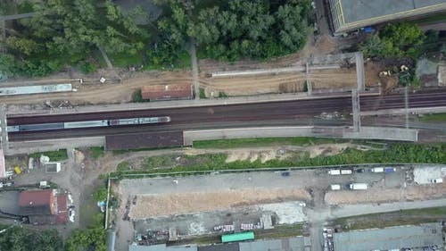 Flying Over a Dull Railway