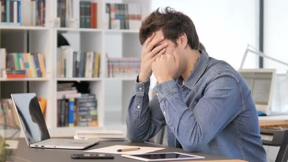 Thumbnail for Headache, Tense Creative Man at Work