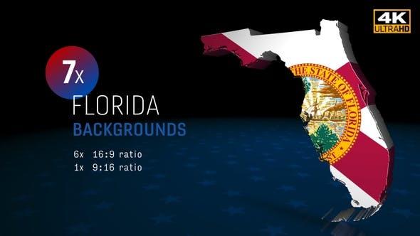 Florida State Wahlen Hintergründe 4K - 7 Pack