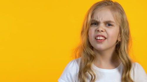 Girl Rolling Her Eyes Listening Parents Moralizing, Awkward Age, Little Rebel