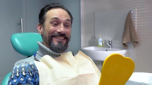 Man in Dental Chair.