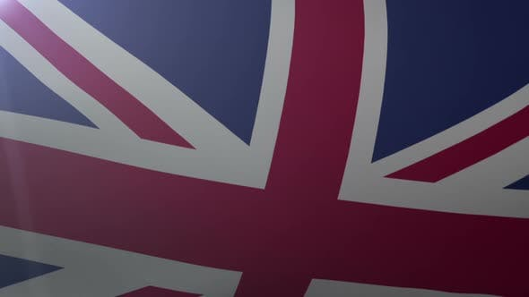 Thumbnail for Flag of United Kingdom Waving on Flagpole in Wind, National Symbol of Freedom