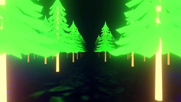 Winter Tree Neon 01 Hd