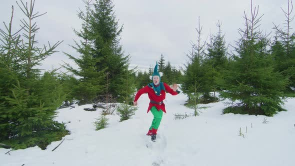 Thumbnail for Elf running and jumping