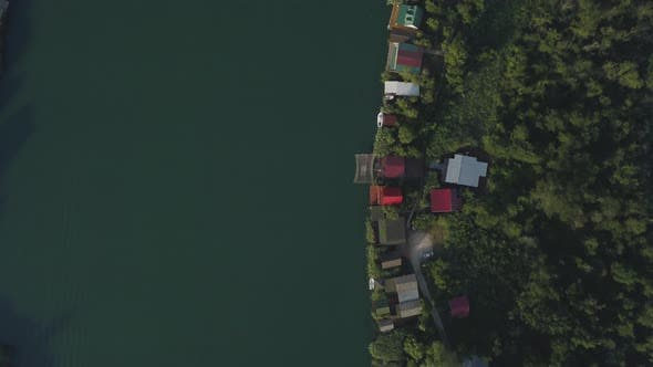 Thumbnail for Floating Restaurants and Guesthouses Located on the River Bank
