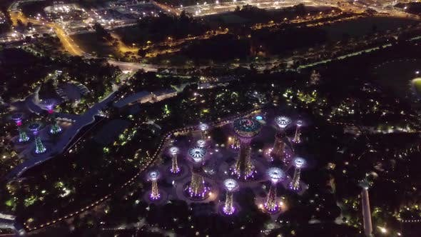Thumbnail for Marina Bay and Garden By the Bay Aerial View in Singapore