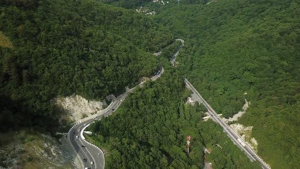 Scenic Curve Mountain Road