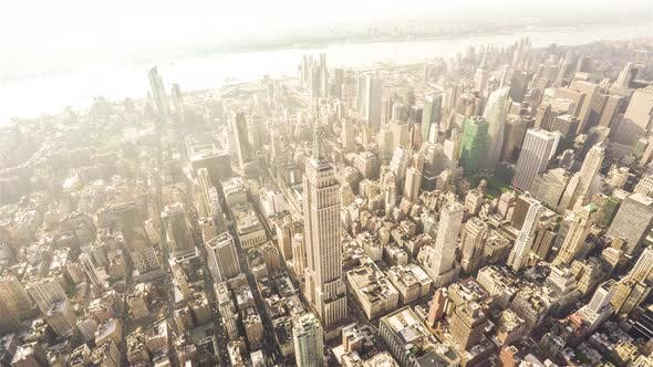 Thumbnail for New York City, USA | Wide angle view of Manhattan at Sunset