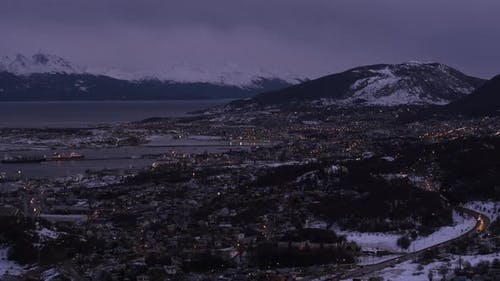 Sunset at Ushuaia, the Southernmost City in the World.