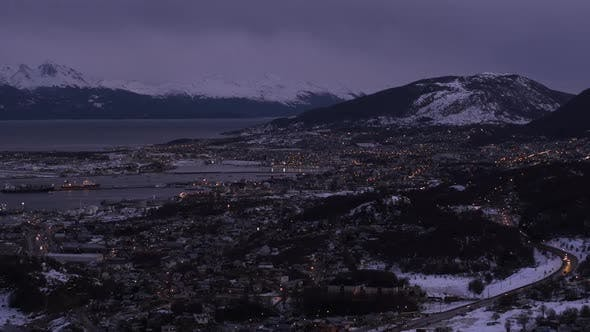 Thumbnail for Ushuaia City at Sunset, in Argentina.