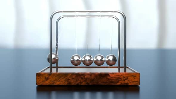 Cover Image for Newton's Cradle Office Toy Loop