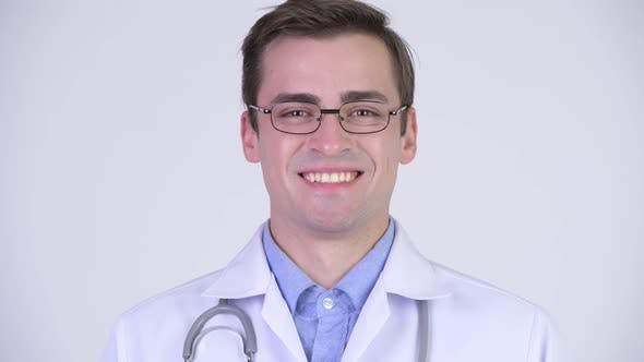 Thumbnail for Young Happy Handsome Man Doctor Smiling