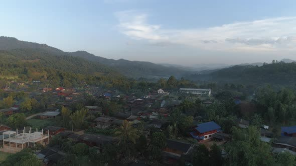 Thumbnail for Flying Over Village in Doi Inthanon National Park