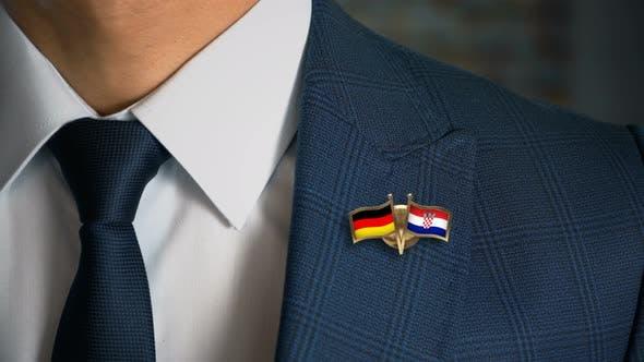 Thumbnail for Businessman Friend Flags Pin Germany Croatia