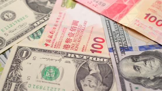 Thumbnail for USD and HKD paper banknote