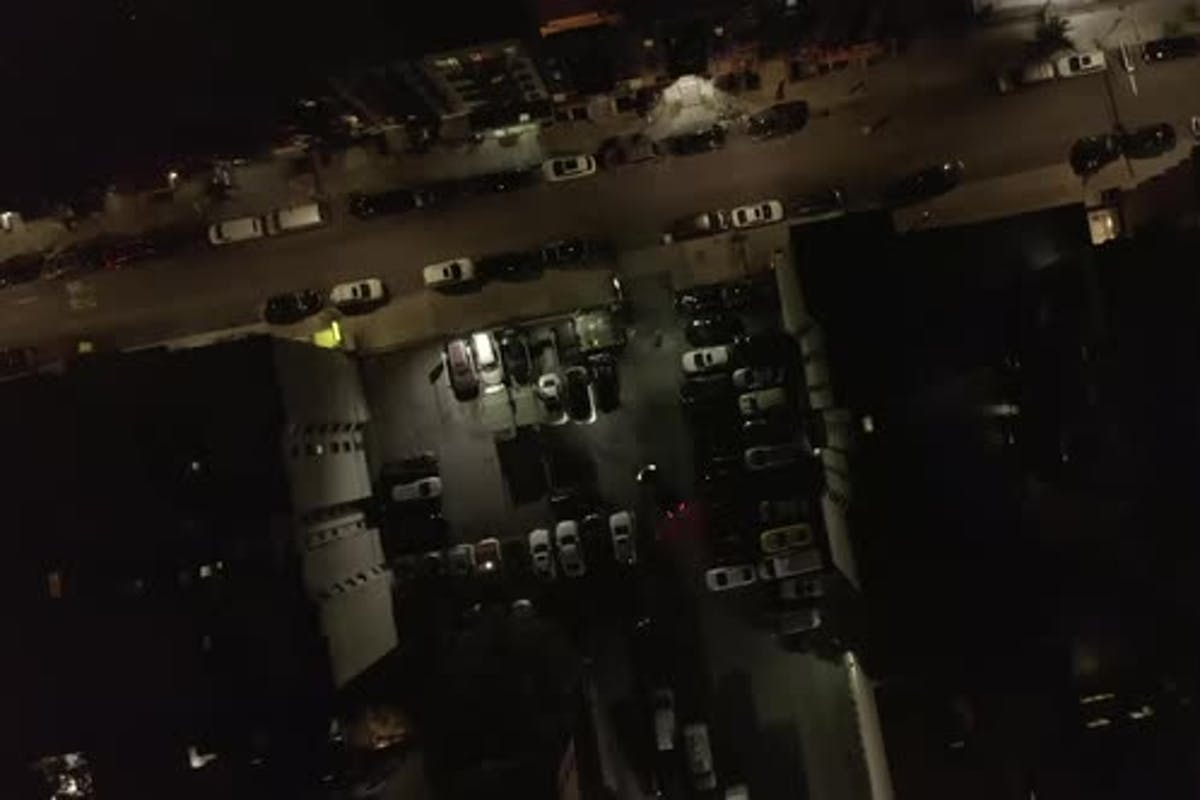 Dark Parking Lot Overhead At Night In Chinatown Manhattan New York City With Car Exiting By 21aerials On Envato Elements