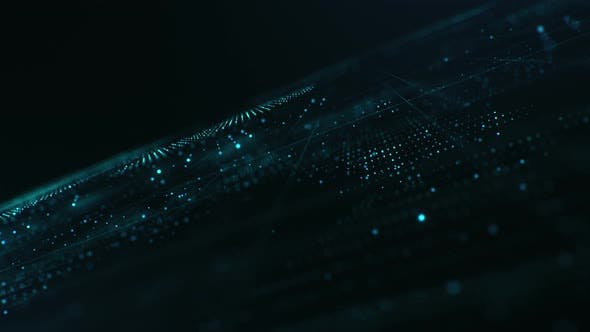 Thumbnail for Abstract Background with Glowing Particles and Lines
