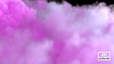Colored Smoke Streaming And Spreading On The Floor