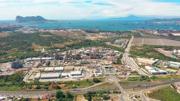 Aerial View of Gibraltar, United Kingdom of Great Britain, Iberian Peninsula, Europe