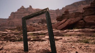Very Old Wooden Frame in Grand Canyon