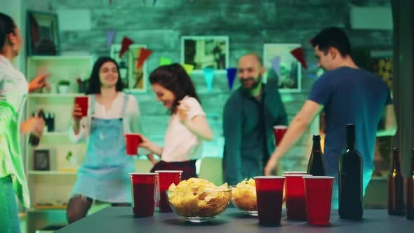 Thumbnail for Chips and Cups with Beer on the Table