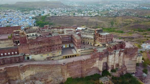 Thumbnail for The Blue City and Mehrangarh Fort in Jodhpur. Rajasthan, India