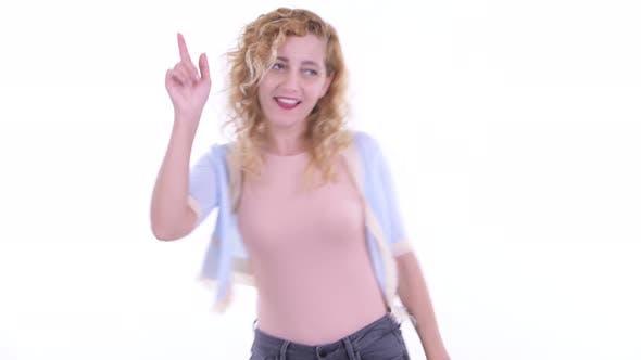 Thumbnail for Happy Beautiful Blonde Woman Dancing