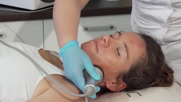 Thumbnail for Mature Lovely Woman Getting Face Rf-lifting Treatment