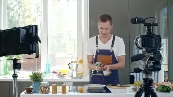 Thumbnail for Cooking Show Presenter Explaining Recipe
