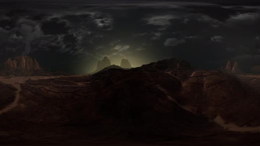 Thumbnail for VR 360 Rocky Desert Landscape