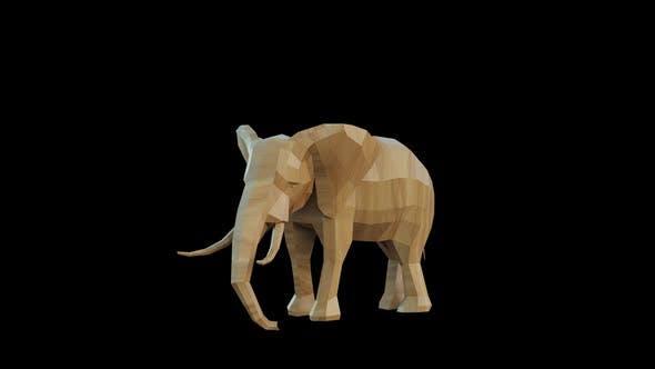 Elephant Wood Toy