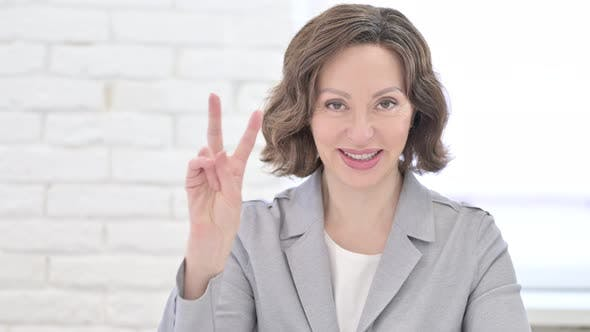 Thumbnail for Old Woman Showing Victory Sign