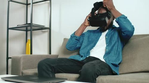 Wearing a VR Headset