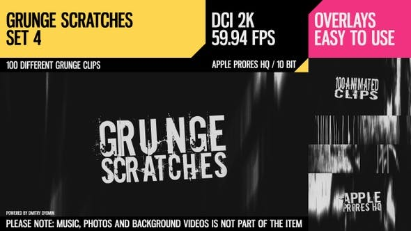 Thumbnail for Grunge Scratches (2K Set 4)