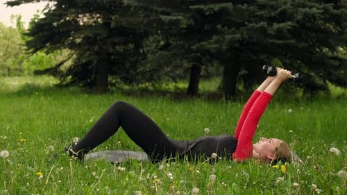French Bench Press With Dumbbells