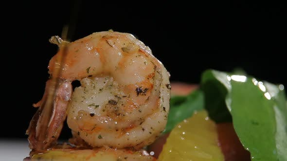 Thumbnail for Olive Oil Poured on Shrimp