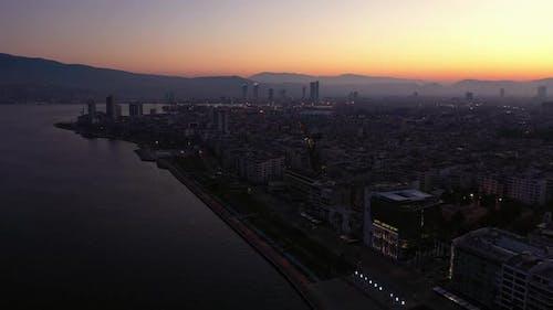 Izmir City in Aegean Coast of Turkey
