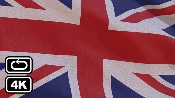 Thumbnail for Uk Flag 4K Seamless Loop