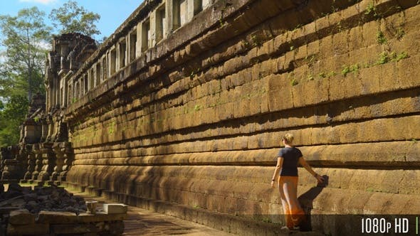 Thumbnail for Woman Exploring Ta Keo Temple in Siem Reap, Cambodia