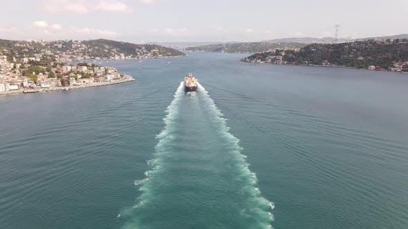 Ship in Bosphorus Istanbul