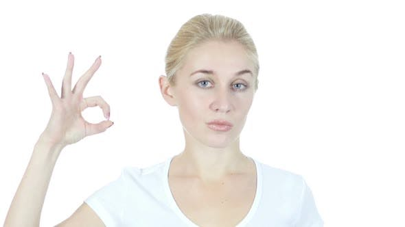 Thumbnail for Young Woman Showing Ok Sign